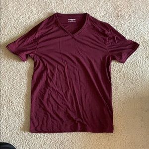 Maroon Express V-neck